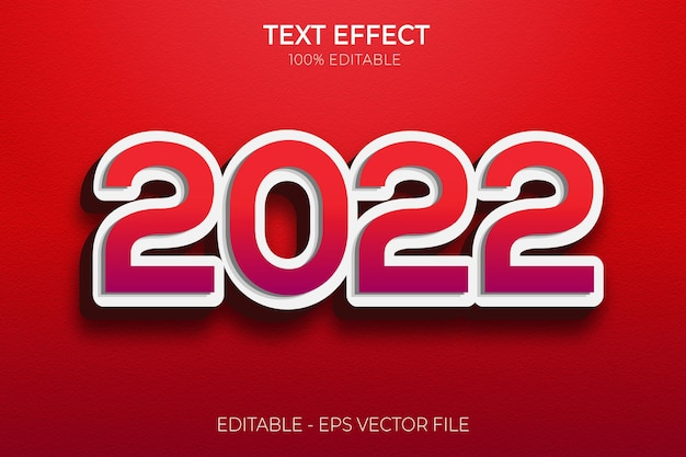 Creative 3d happy new year text effects premium vector