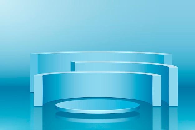クリエイティブな3d形状の表彰台