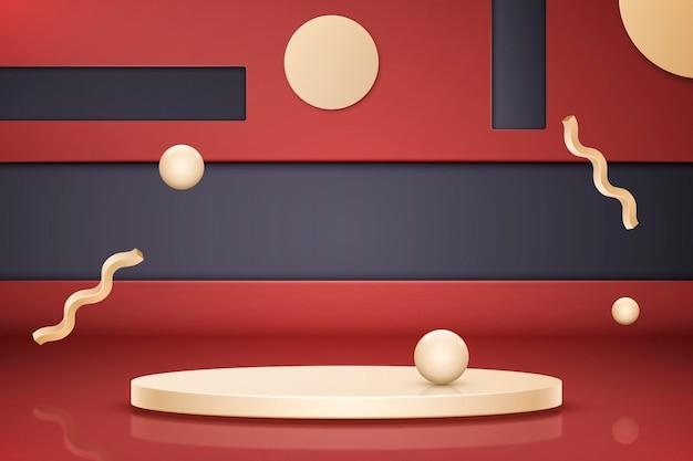 Creative 3d shaped podium