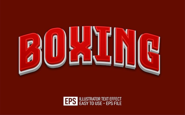 Creative 3d text boxing editable style effect template