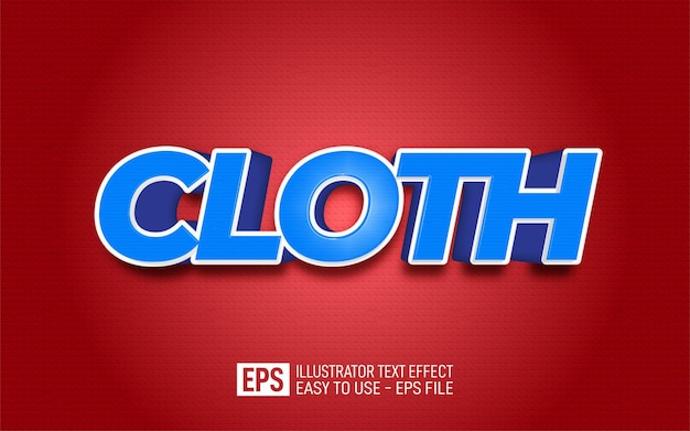 Creative 3d text cloth, editable style effect template