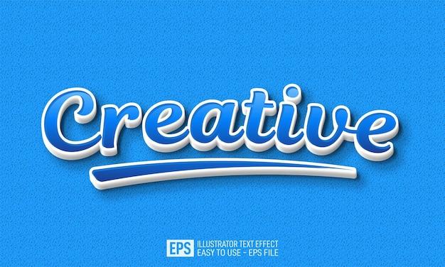 Creative 3d text editable style effect template