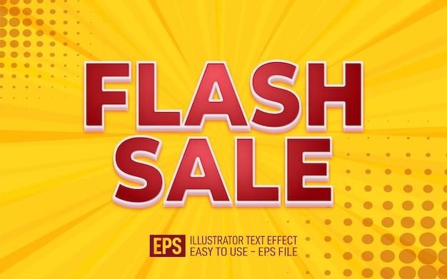 Creative 3d text flash sale, editable style effect template