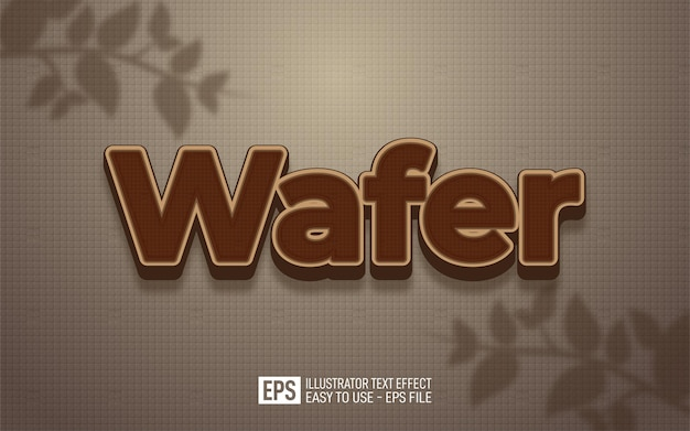 Creative 3d text wafer, editable style effect template