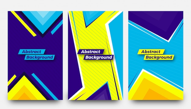 Creative abstract background templates set
