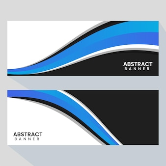 Creative abstract banner web templates banners ready for use web or print design