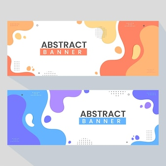 Creative abstract banner web templates banners ready for use in web or print design