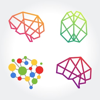 Творческий абстрактный символ мозга