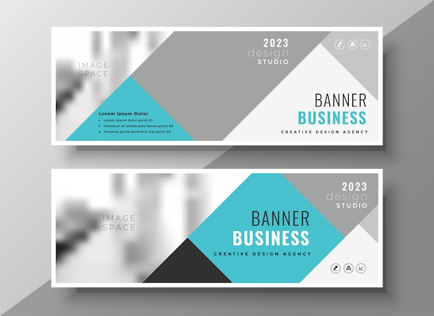Creative abstract business banners elegant design