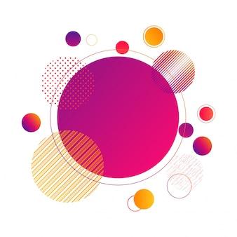 創造的な抽象的な円の要素のデザイン。