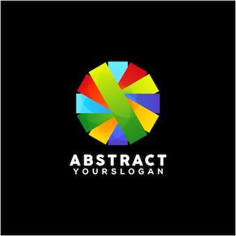 Creative abstract colorful logo design template