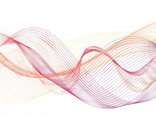 創造的な抽象的な流れる波のデザイン。