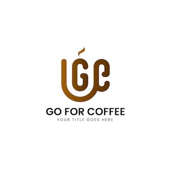 커피숍을 위한 크리에이 티브 추상 그라데이션 로고 템플릿