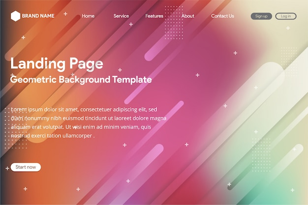 Creative abstract gradient for website and landing page template