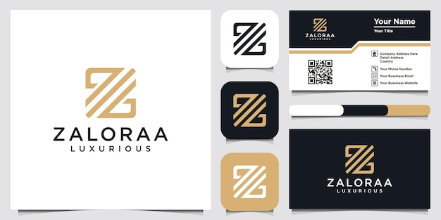 Creative of abstract initial letter z logo template and business card design