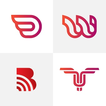 Creative abstract letter logo