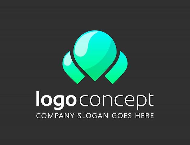 Creative abstract logo design template.