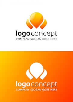 Creative abstract logo design template.