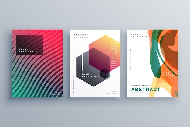 Creative abstract minimal brochure template or cover page poster design