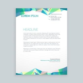 Creative abstract shapes letterhead
