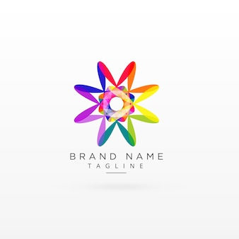 Creative abstract vibrant logo design