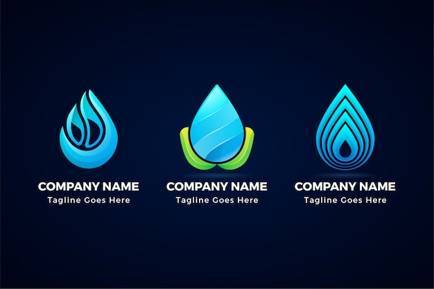 Creative abstract water drop icon logo isolated from background.