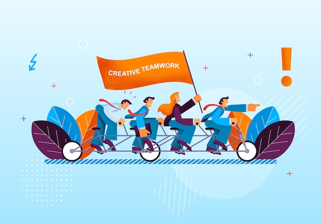 Creative activity office workers leads to success