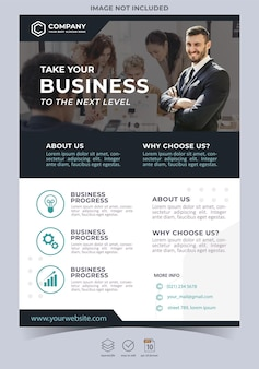 크리에이티브 에이전시 및 기업 비즈니스 전단지 템플릿