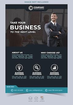 Creative agency and corporate business flyer template