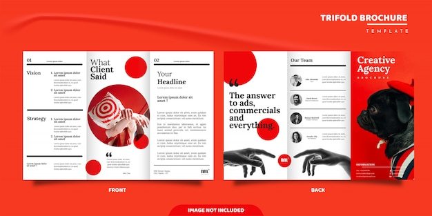 Creative agency trifold brochure design