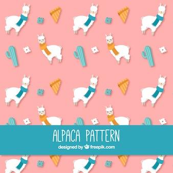 創造的なアルパカのパターン