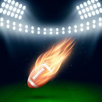 Illustrazione creativa di football americano
