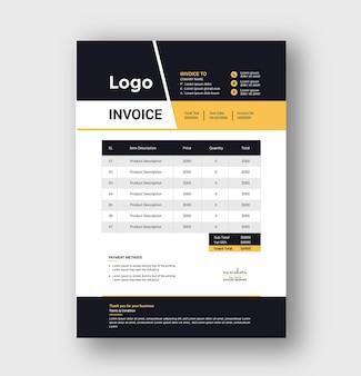 Креативный и деловой дизайн шаблона счета-фактуры