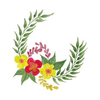 招待状やお祝いカードのデザインのための創造的でカラフルな水彩花の花のデザイン