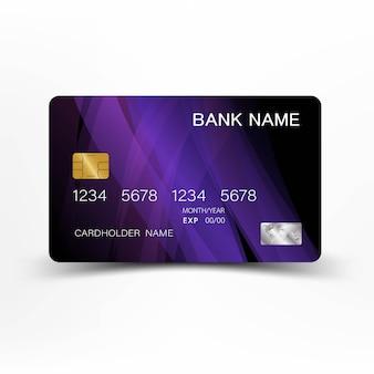 창의적이고 신용 카드 디자인