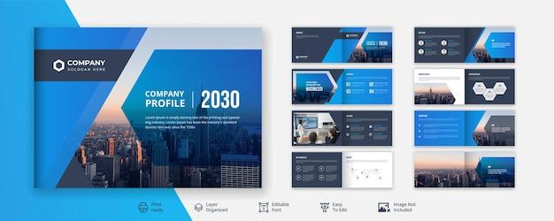 Креативный и минималистичный дизайн корпоративной бизнес-брошюры