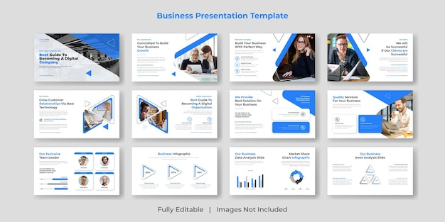 Креативный и современный бизнес-презентация powerpoint, набор шаблонов слайдов