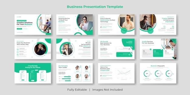 クリエイティブでモダンなビジネスpowerpointプレゼンテーションスライドテンプレートセットのデザイン