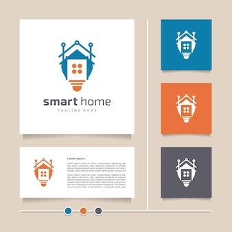 창의적이고 현대적인 개념 벡터 스마트 홈 로고 디자인