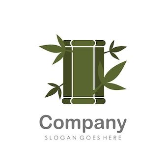 Творческий и уникальный шаблон дизайна логотипа бамбука