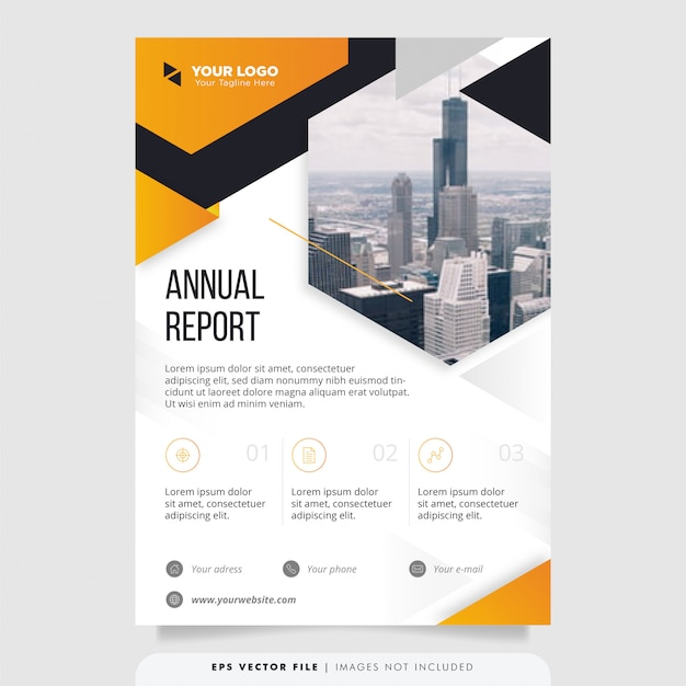 Creative annual report design template.