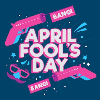 Creative april fools day background