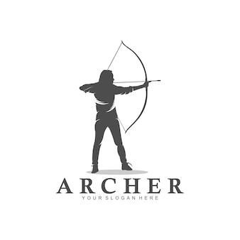 창의 양궁 디자인 개념 삽화