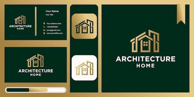 Логотип креативной архитектуры дома, логотип недвижимости, коллекция логотипов креативного дома, набор домашних логотипов. векторный иллюстратор с причудливыми цветами