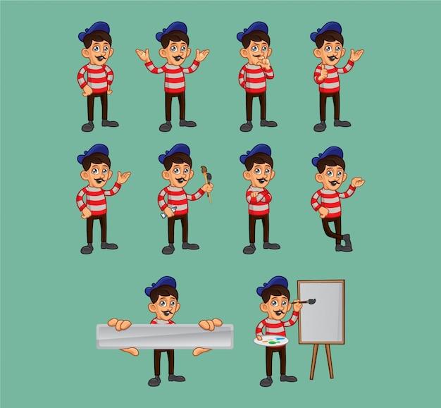 Creative artist character set