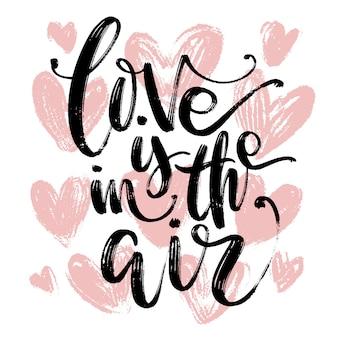 Creative artistic hand drawn card. love template.