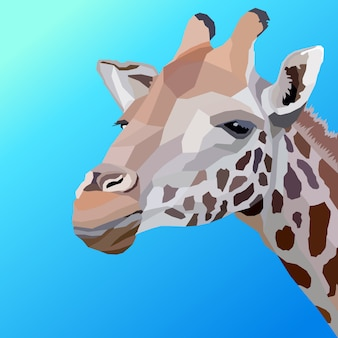 Creative artwork giraffe of head