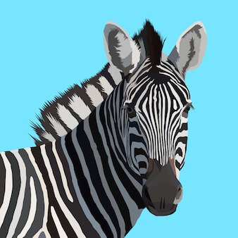 Creative artwork zebra pop art