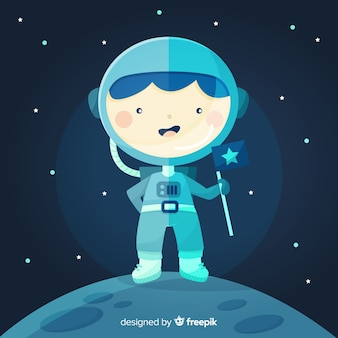 Креативный дизайн космонавта