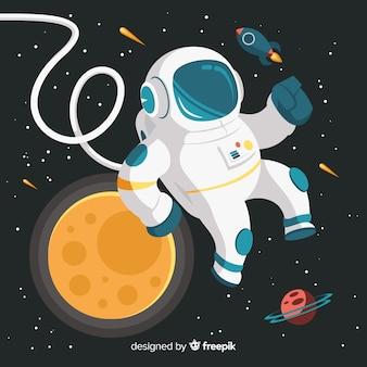 창의적인 우주 비행사 디자인
